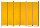 Ширма с желтым полотном