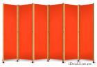 Ширма с оранжевым полотном
