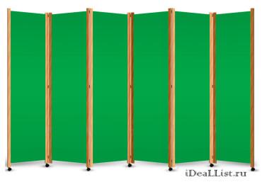 Ширма с зеленым полотном