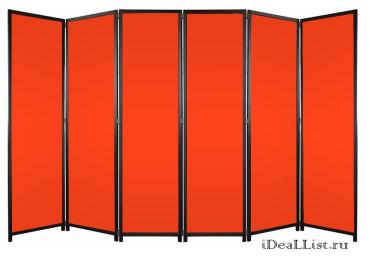 """Ширма с тканью """"Модерн"""" Оранжевая"""