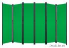 Ширма классик с зелеными полотнами